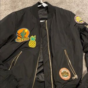 Topshop patch work bomber jacket